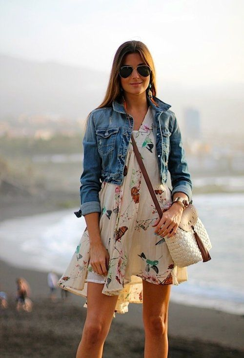 Apr 12,  · Wear a light-wash denim jacket with a floaty dress, a medium-wash with florals, and a cropped jacket with a graphic tee. Make a summer dress work for spring or fall by layering with a jean jacket. Source. Use this simple outfit guide to figure out how to wear your denim jacket for each season. Follow Gurl, pretty please!