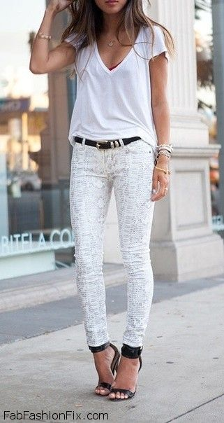 Style Guide: How to wear white jeans this summer  Fab Fashion Fix