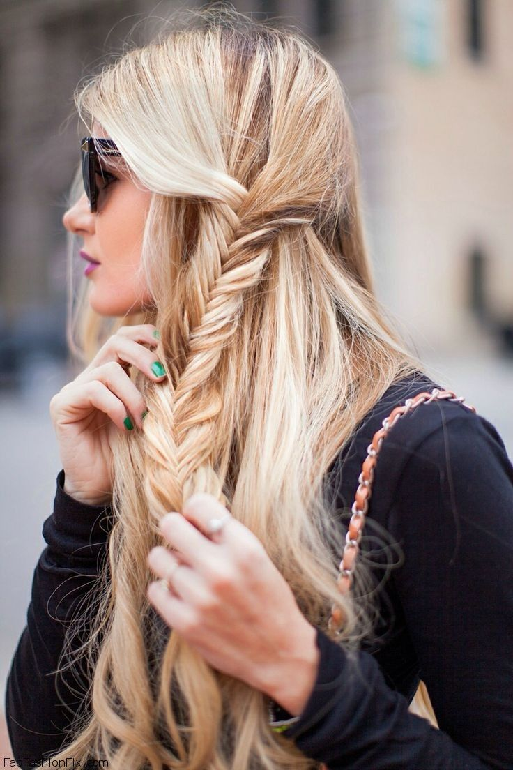 Hair how to do fishtail braid hairstyle fab fashion fix for Fish tail hair