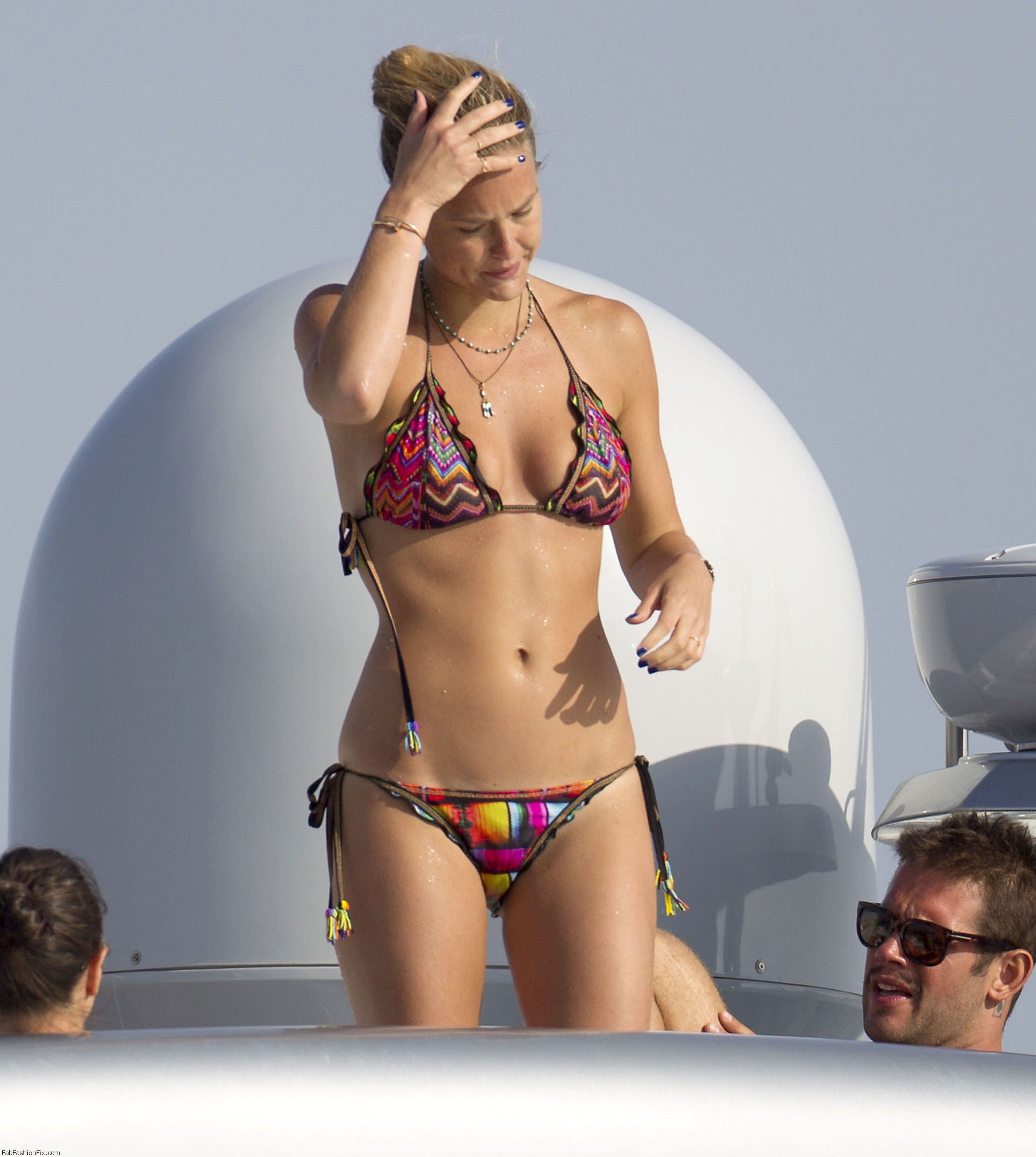 Semi-Exclusive... Bar Refaeli Showing Off Her Hot Bikini Body While On Vacation In Formentera ***NO WEB USE***