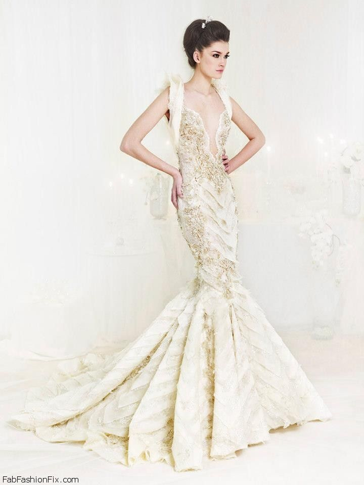 Ziad nakad haute couture bridal collections fab fashion fix for Designer haute couture dresses