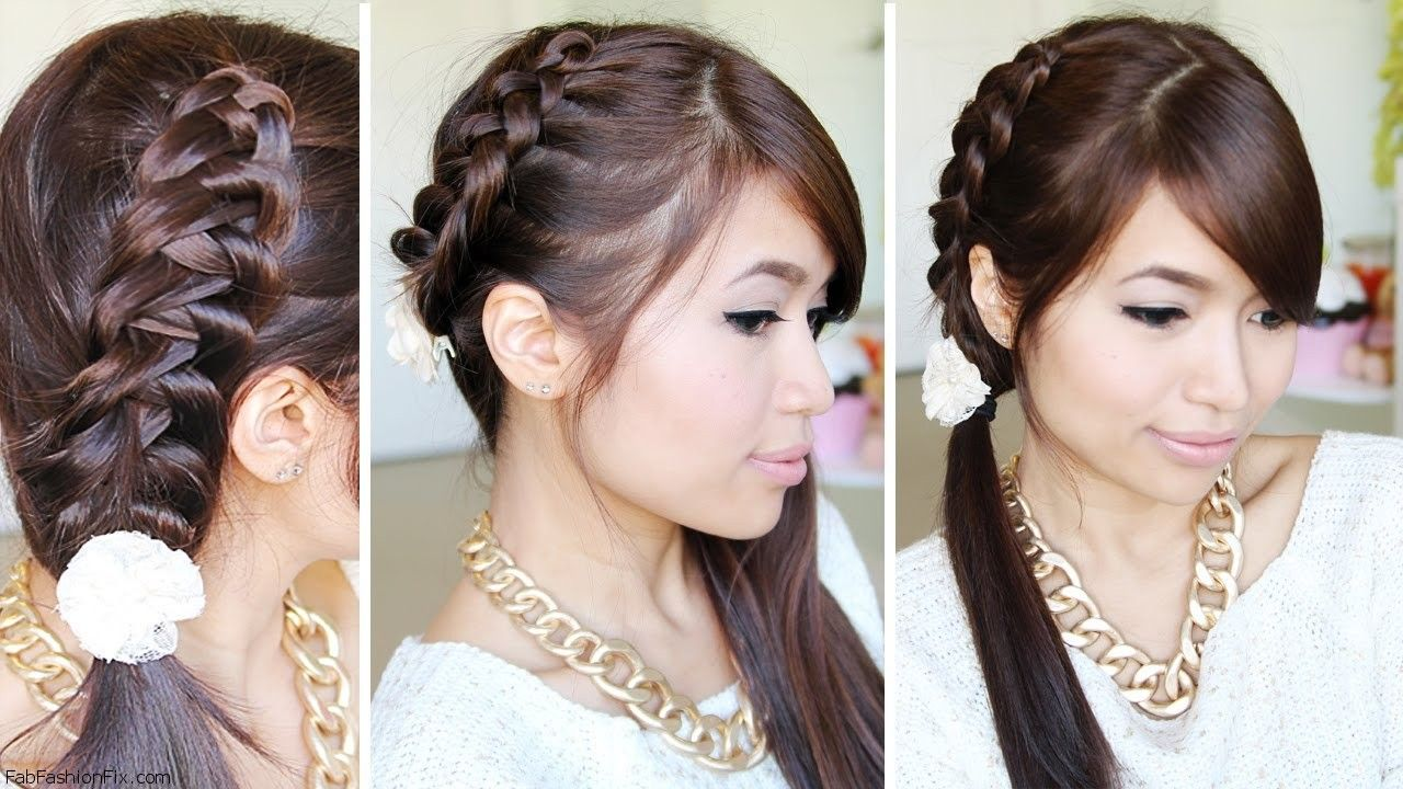 Puff ponytail hairstyles collection of hairstyles with puff fashion - Chinese Staircase Braid Hairstyle Tutorial Fab Fashion Fix