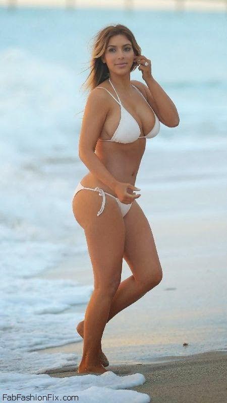Kim Kardashian white bikini Miami November 30, 2013 10