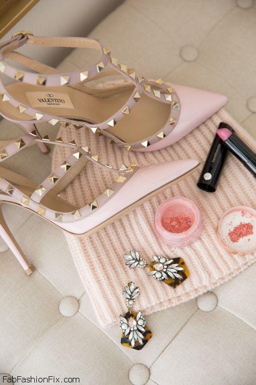 Pale Pink Valentinos.