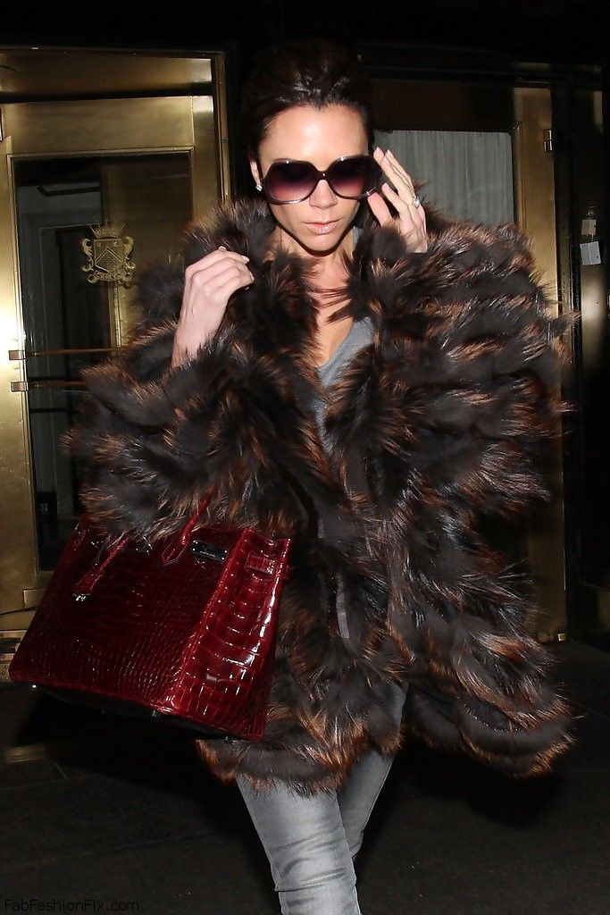 Style Watch How Celebrities Wear Fur And Faux Fur Coats