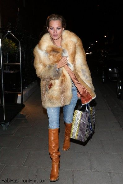 Style Watch: How celebrities wear fur and faux fur coats ...