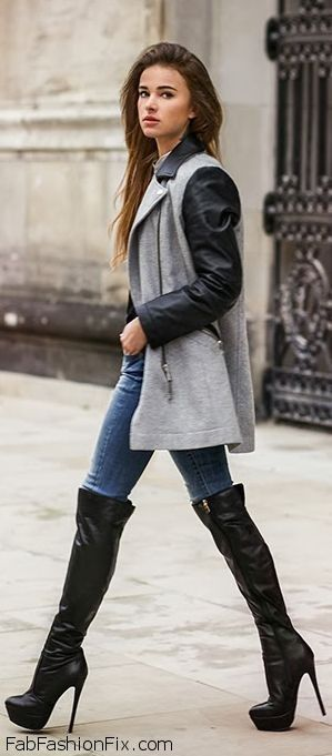 Style Guide: How to wear over-the-knee boots this winter? | Fab