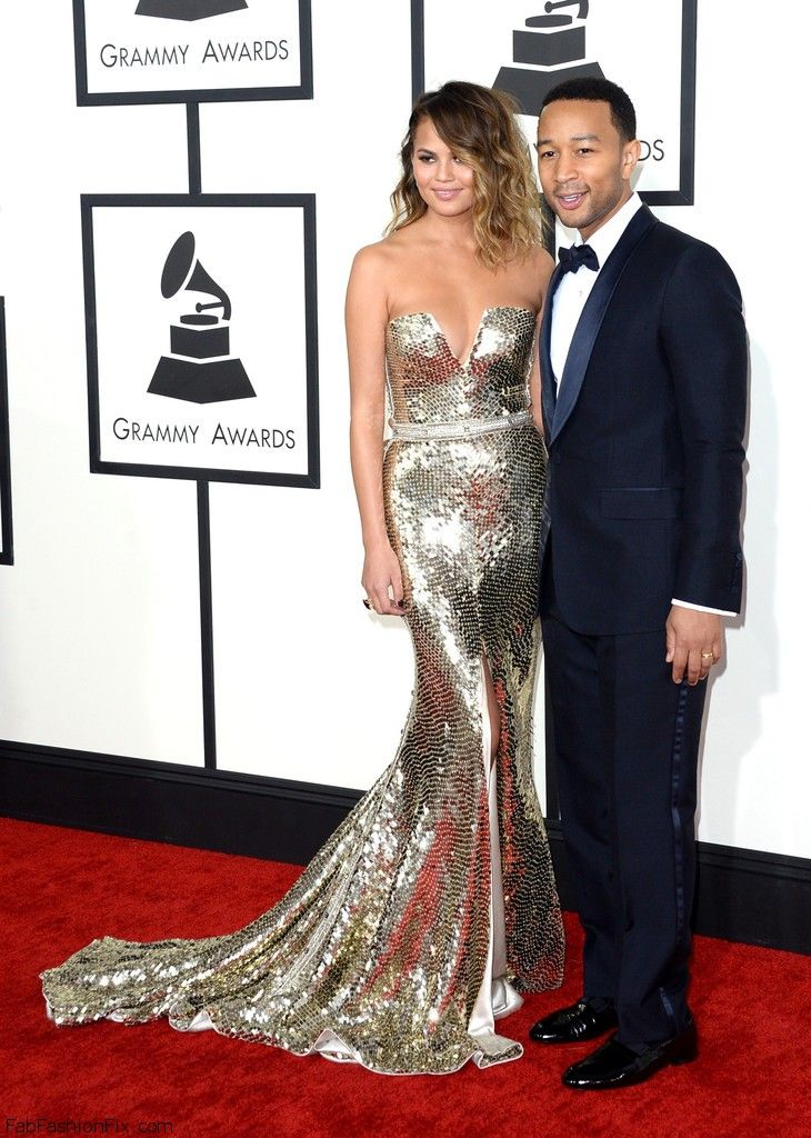 Chrissy+Teigen+56th+GRAMMY+Awards+Arrivals+V6eBzJ8Spqux