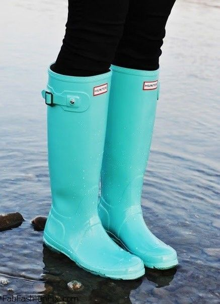Style Watch The Hunter Boots Trend Fab Fashion Fix