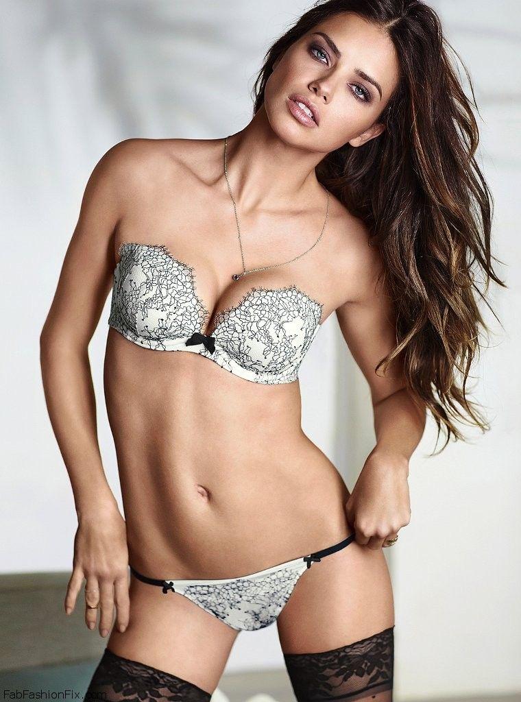 68ec7613301 Adriana Lima for Victoria s Secret lingerie (January 2014) - Fab ...