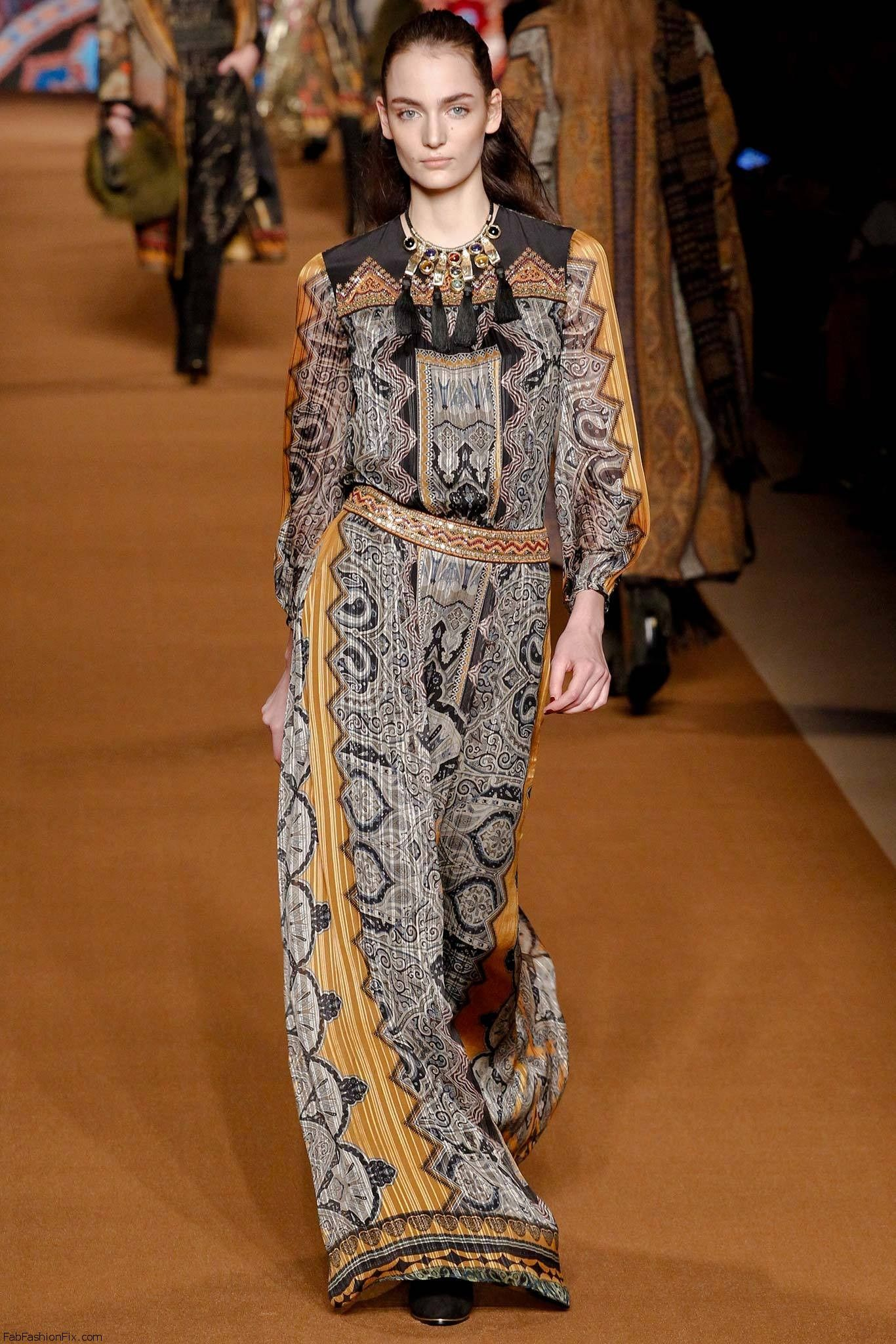 etro fall winter 2014 collection milan fashion week fab fashion fix. Black Bedroom Furniture Sets. Home Design Ideas