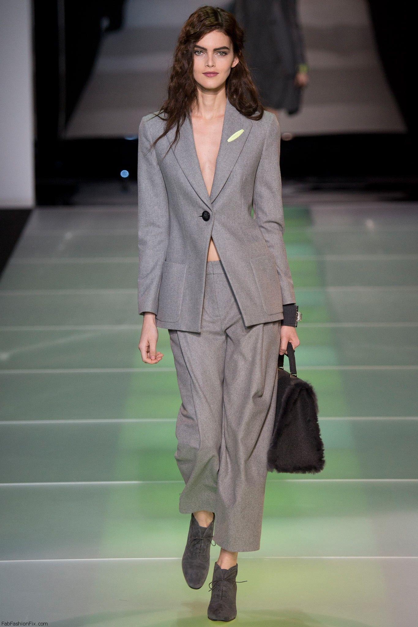 Giorgio Armani Fall Winter 2014 Collection Milan Fashion
