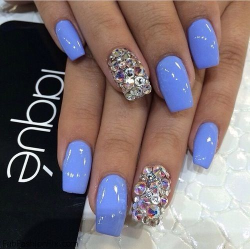 Blue Nails & Nail Art Inspirations