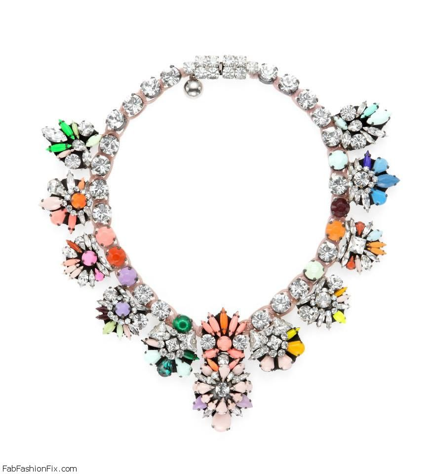 shourouk necklace white modesens sequinned product crystal
