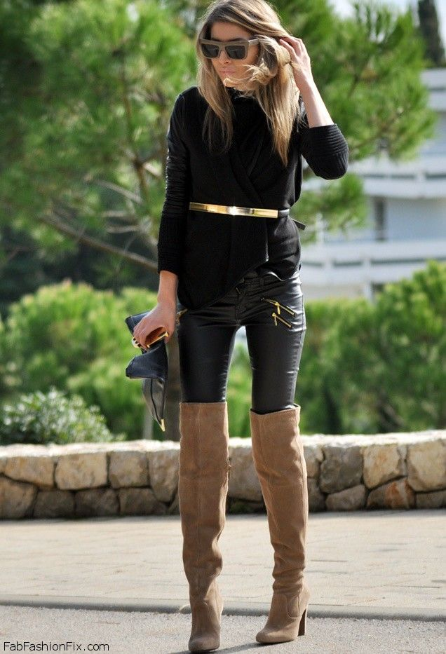 Style Watch: How fashion bloggers wear over-the-knee boots this ...