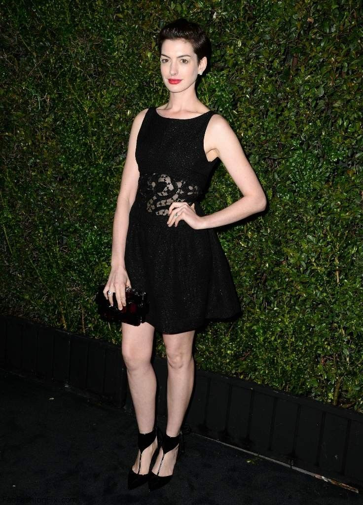 Anne Hathaway - Chanel Charles Finch Pre-Oscar Dinner 009