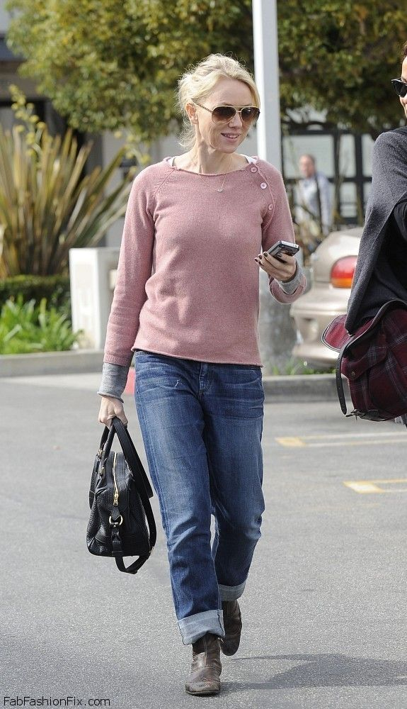 Style Watch How Celebrities Wear Boyfriend Jeans For