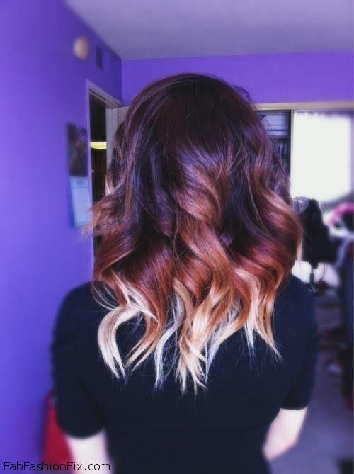 Интересная покраска для волос