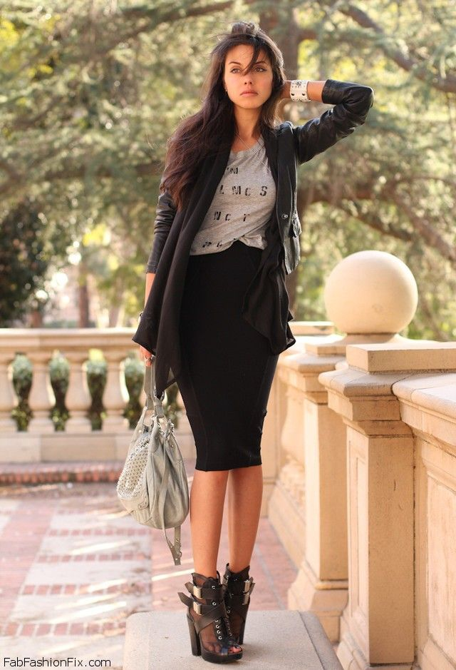 Shirts that go with black pencil skirts – Modern skirts blog for you