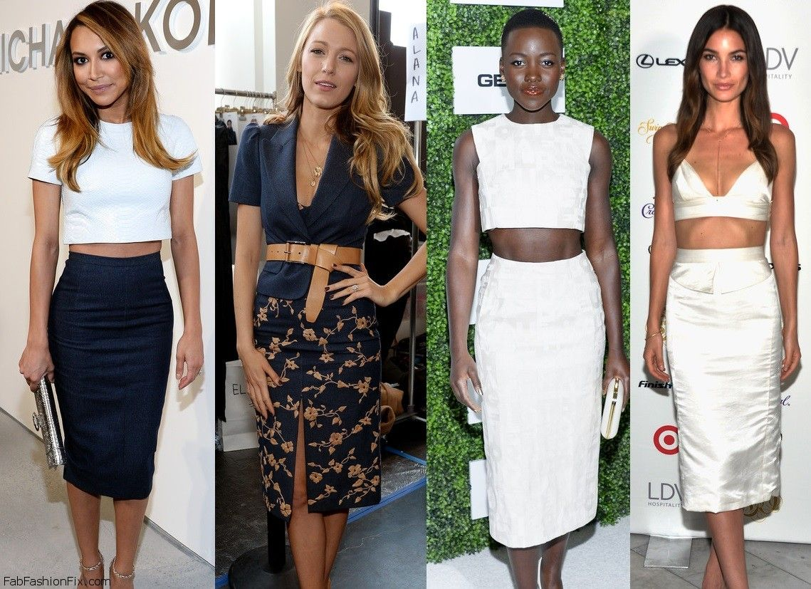 0341e5aa17d Style Watch  How celebrities wear the pencil skirt this spring  - Fab  Fashion Fix