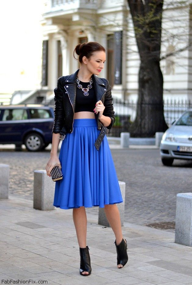 Style Guide How To Wear The Mid Length Skirt This Spring