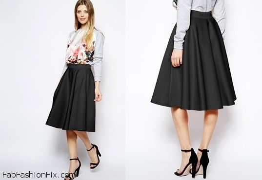 Style Guide: How to wear the mid-length skirt this spring? | Fab ...