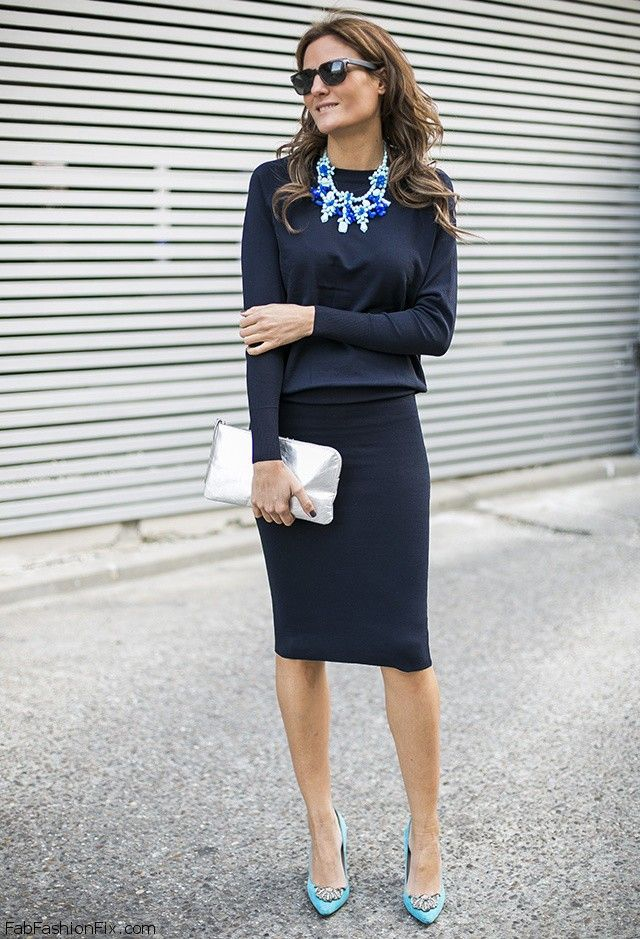 Style Watch: How fashion bloggers wear the pencil skirt this ...