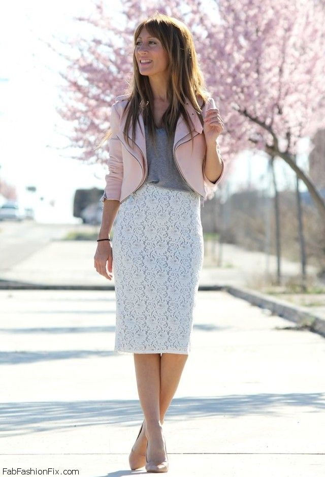 Style Watch How Fashion Bloggers Wear The Pencil Skirt