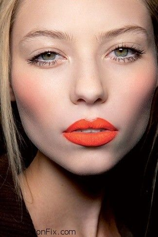 How To Wear An Orange Lip Makeup Look Tutorial Fab