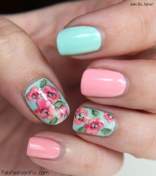 Floral nails and flower nail art inspirations for this spring ...