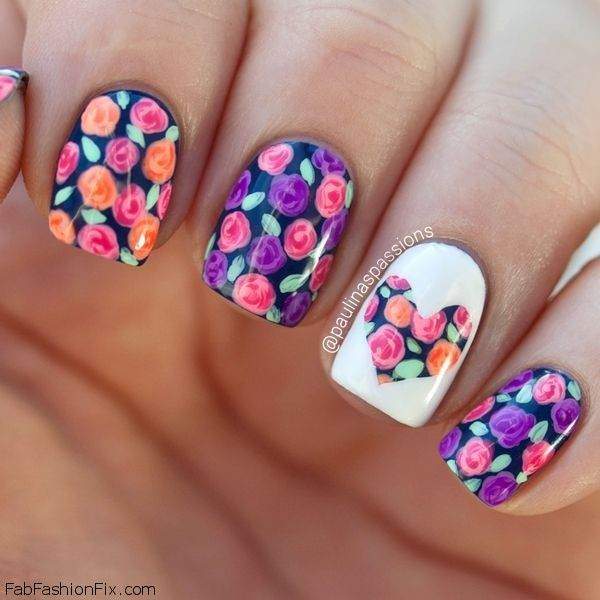 Floral Nail Art: Floral Nails And Flower Nail Art Inspirations For This