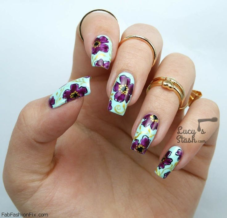 Floral Manicures For Spring And: Floral Nails And Flower Nail Art Inspirations For This