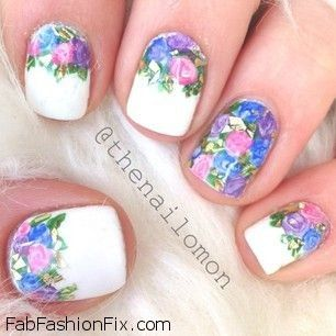 Floral nails and flower nail art inspirations for this spring