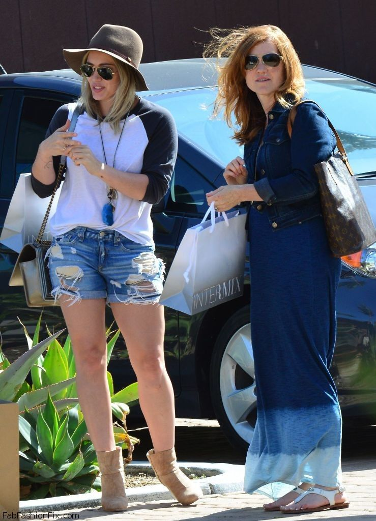 Hilary duff was seen while shopping out and about in malibu on 10th