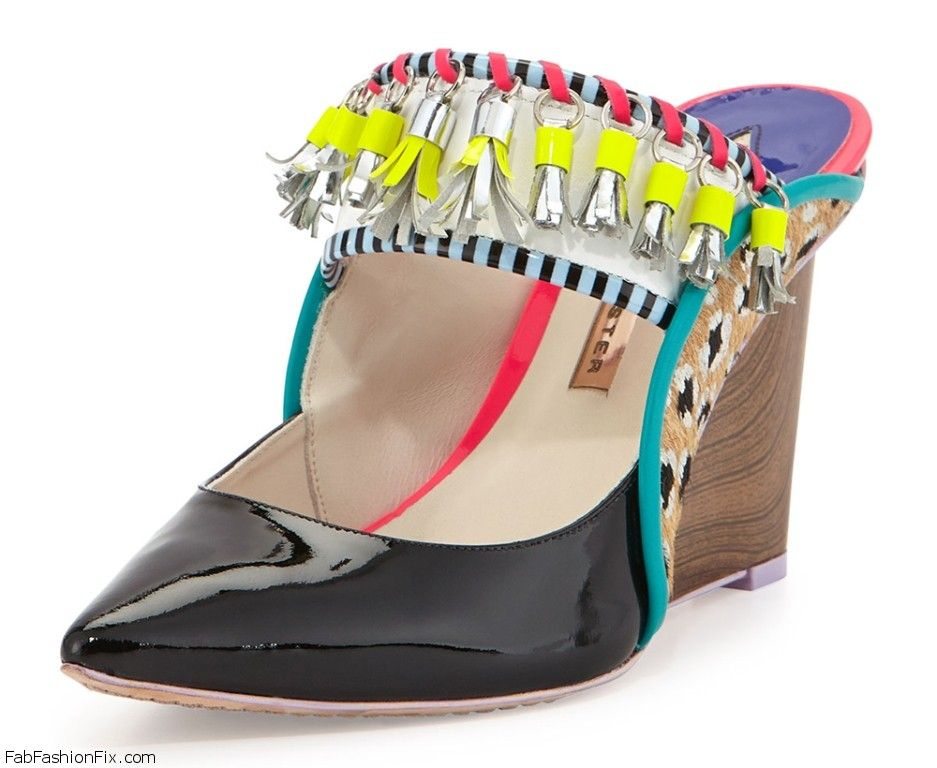 Sophia-Webster-Samia-Tribal-Calf-Hair-Patent-Wedge-Mule