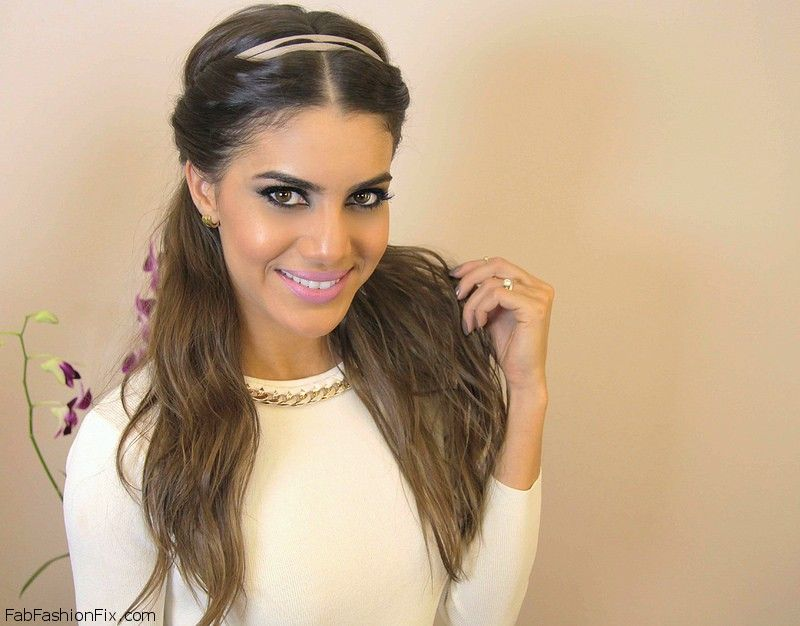 Greek Goddess Inspired Hairstyle With Headband Tutorial