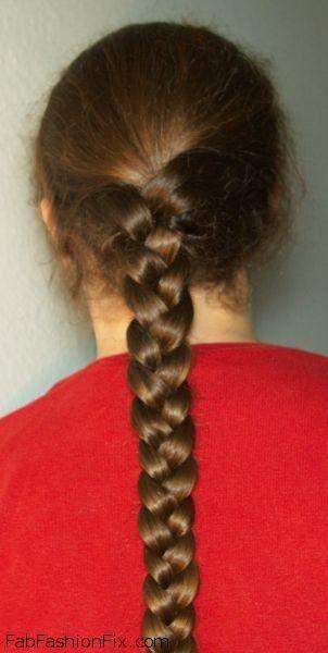 Fantastic Three Strand Braid Hairstyle Tutorial Fab Fashion Fix Hairstyles For Women Draintrainus