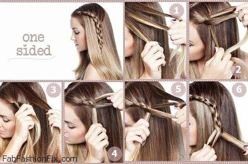 Hairstyles Braids Tumblr Step By Step: One-sided French Braid Hairstyle Tutorial