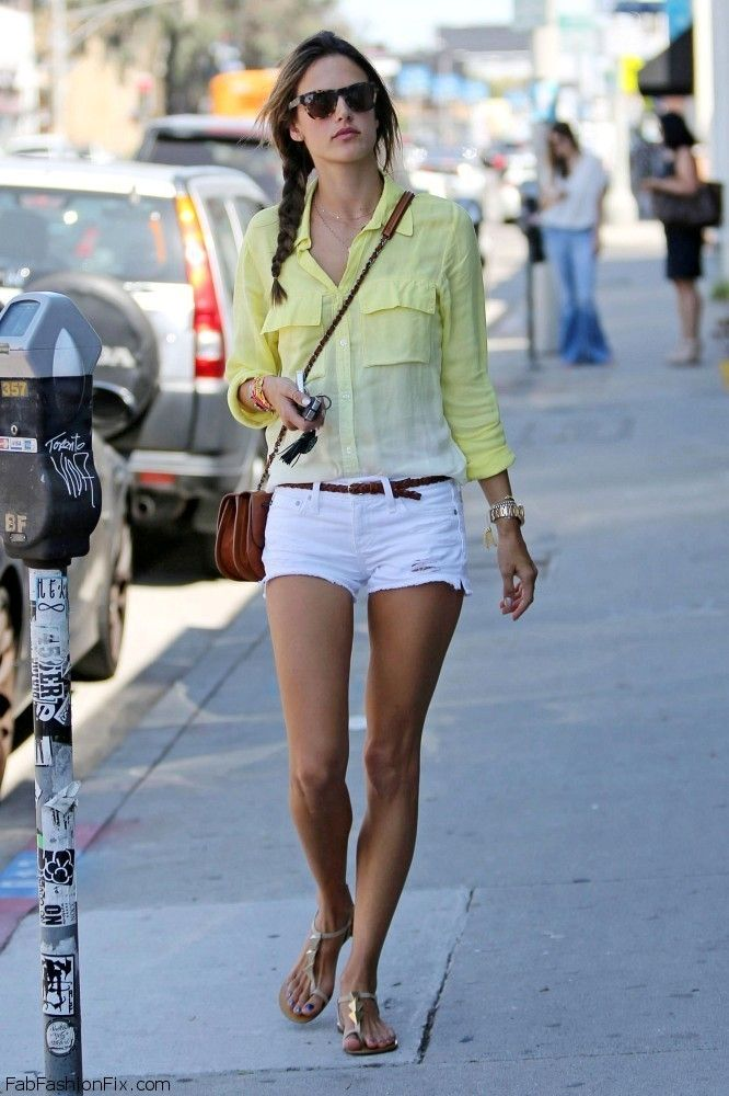 Style Watch How Celebrities Wear White Shorts For Summer