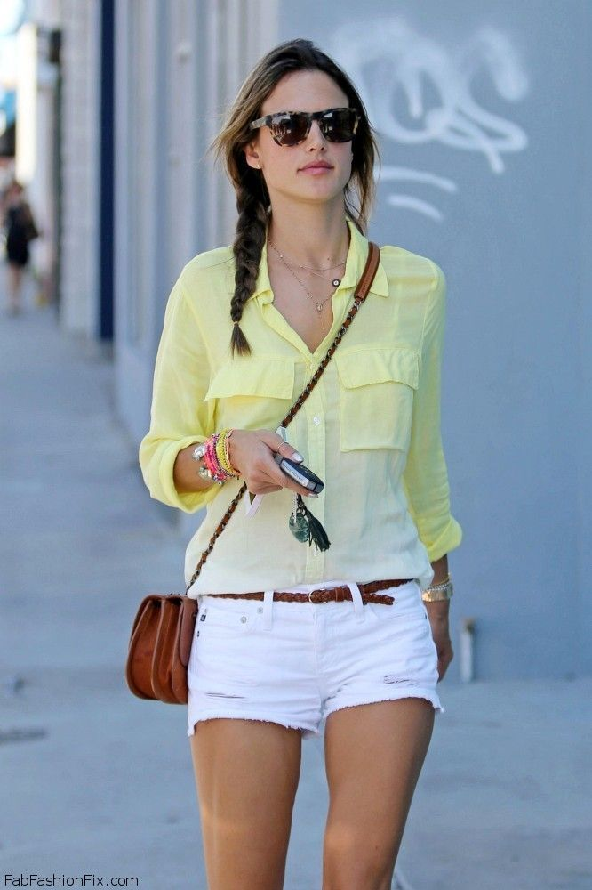 Style Watch: How celebrities wear white shorts for summer style ...