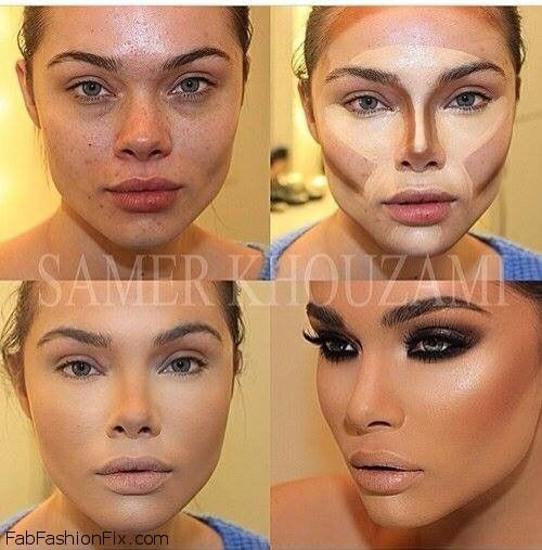 How to highlight and contour your face with makeup like a pro ...