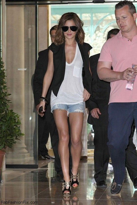 e2f258069e5cc1 Style Watch  How celebrities wear denim shorts for summer style ...