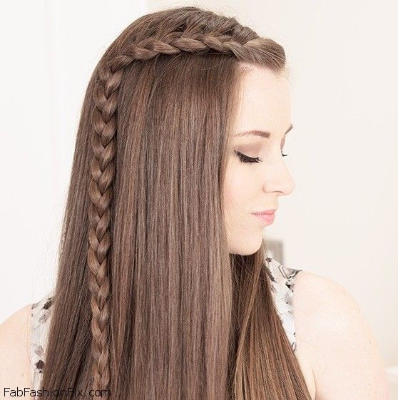 Pleasing One Sided French Braid Hairstyle Tutorial Fab Fashion Fix Hairstyle Inspiration Daily Dogsangcom