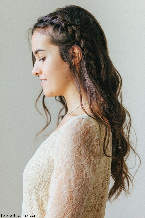 One-sided French braid hairstyle tutorial | Fab Fashion Fix