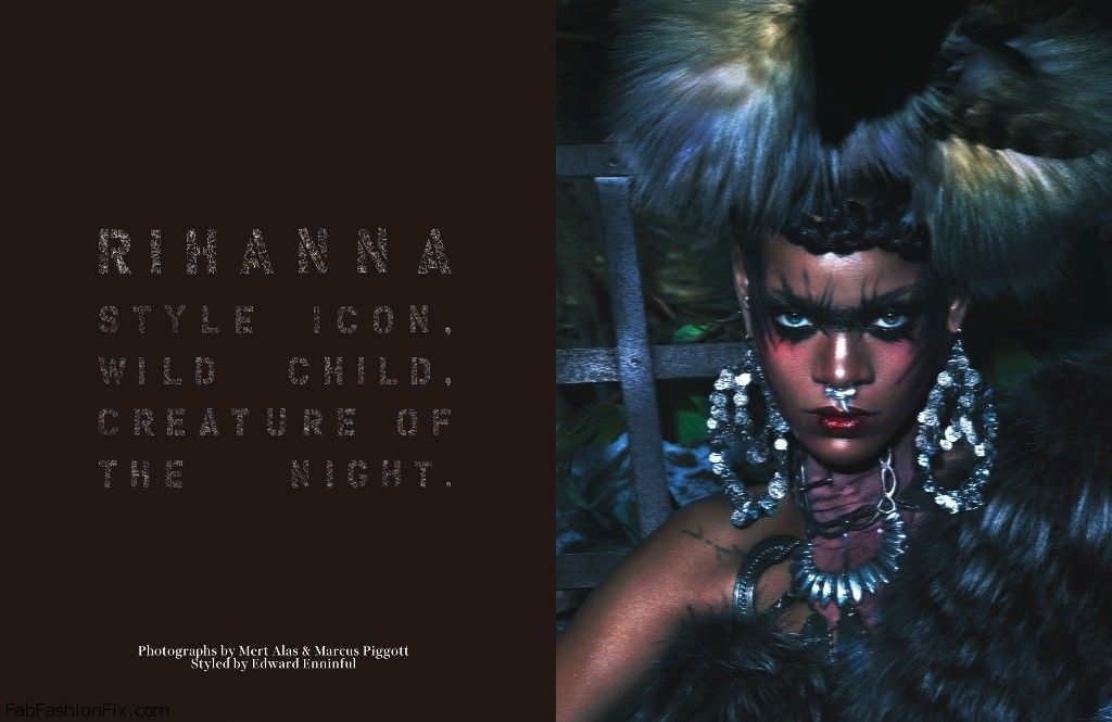 Rihanna W Mag Style Icon. Wild Child. Creature of the Night_02