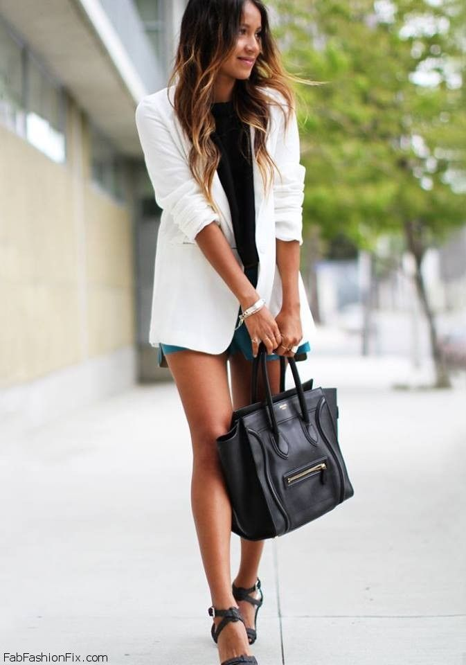 autumn white blazer
