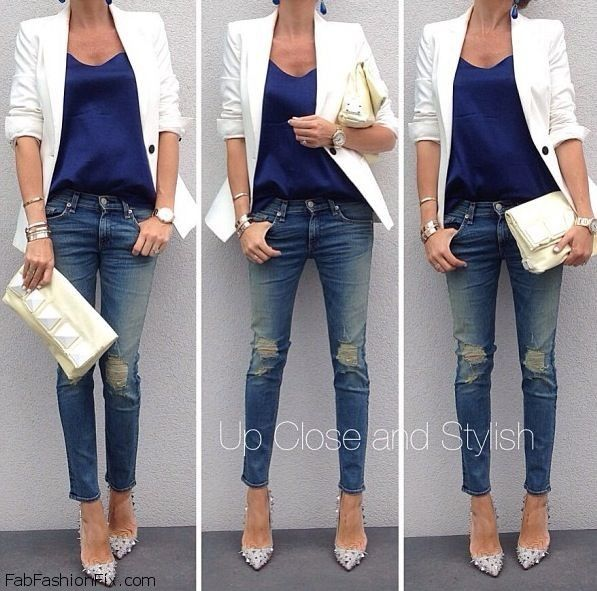 Style Guide: How to style and wear white blazer this autumn? | Fab ...