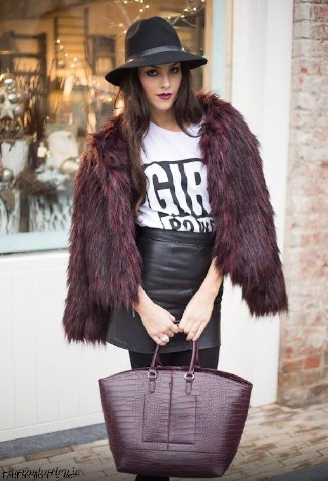 Style Guide: How to style and wear leather skirt this fall? | Fab ...