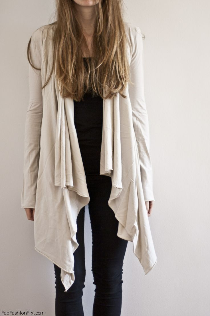 asymmetrical wrap cardigan