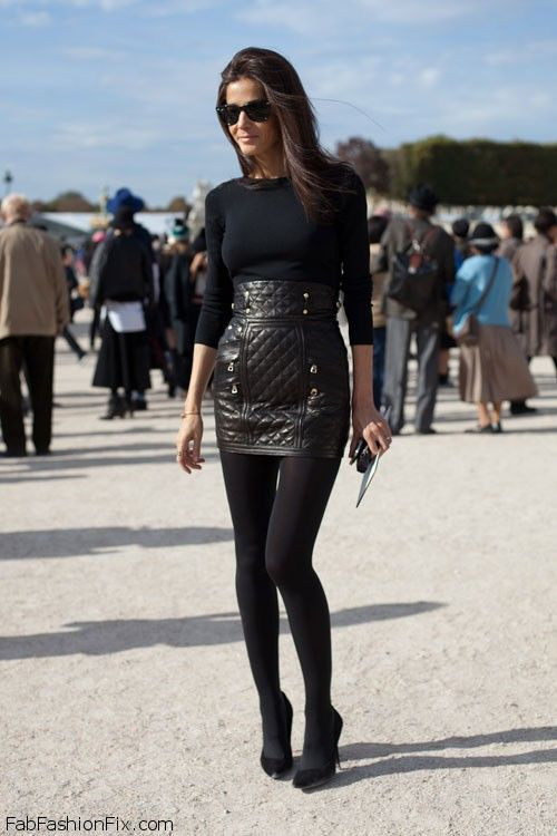 style guide how to style and wear leather skirt this fall
